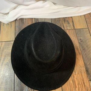 Accessories - Black Suede fadora hat